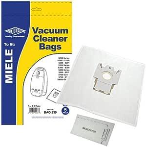 5 x fjm sacs pour miele S291 S300 S399 aspirateur