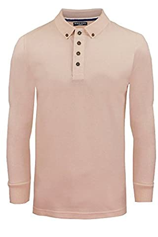 Brave Soul MLT-69LINCOLN Polo Top Summer Pink - Large