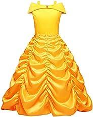 OBEEII Bella Disfraz Belleza Carnaval Traje de Princesa para Halloween Navidad Fiesta Cosplay Costume para Niñ