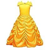 Best Vestir trajes de Halloween - IWEMEK Disfraz de Princesa Belle para Niñas Vestido Review
