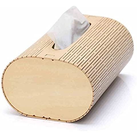 Continental Creative Desktop caja de papel caja de pañuelos de madera de bombeo de la casete de bombeo casa salón contenedor de madera con un coche tubo de cartón