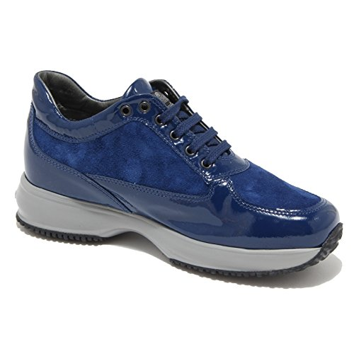 8367M HOGAN INTERACTIVE JUNIOR scarpe bimba shoes sneaker kids blu bu