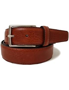 Cinturón de cuero para hombres - Cuero genuino de alta calidad Made in Italy - 35mm