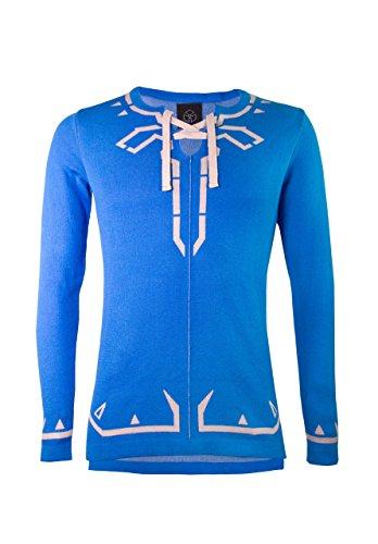 Musterbrand Zelda Strickpullover Herren Hyrule Champion Unisex Hoodie Sweatshirt Pullover Blau (Zelda Of Hoodie Kostüm Legend Link)