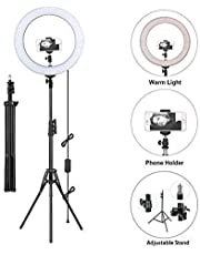 TECHNITY (10 Inches + 10 Inches) Selfi Ring Light with Tripod Stand for Camera | Smartphone | YouTube | Tiktok | Video Shouting | Makeup | Studio Light with Phone Holder Combo Pack of 2