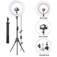 BRAND SUN 10-inch Selfie Ring LED Light with Tripod Stand and Cell Phone Holder and 10 Level Light Brightness for Live…