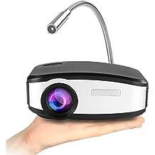"Mini Proyector multimedia, Yokkao® C6 Mini Proyector Digital Portátil 130"" LED LCD Proyector LED LCD con 1200 Lúmenes 800x400p Ratio de Contraste 1200:1 Cine en Casa/Teatro/Trabajo Soporta DMI/USB/VGA/AV/ATV/MHL"