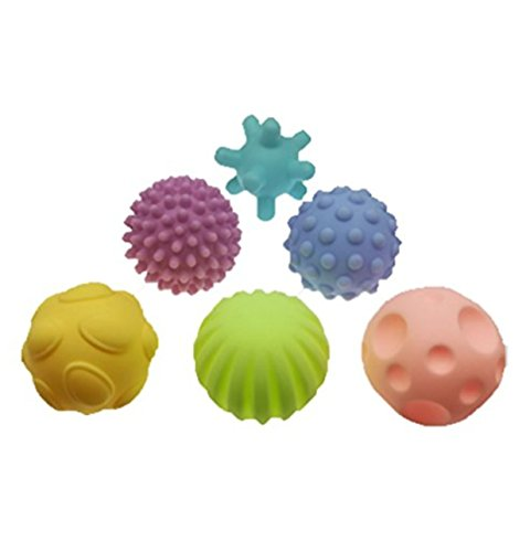 Lalang 6pcs Baby-Hand fangen Massage Ball Touch-Wahrnehmung Bildungs Spielzeug