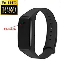 Idea Regalo - WEIDE - Full Hd 1080P Spy Telecamera Nascosta Orologio Smart Bracciale Tipo Mini Dv Video Registratore Videocamera Spy Cam