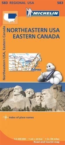 Mapa Regional Northeastern USA, Eastern Canada (Carte regionali) por Michelin