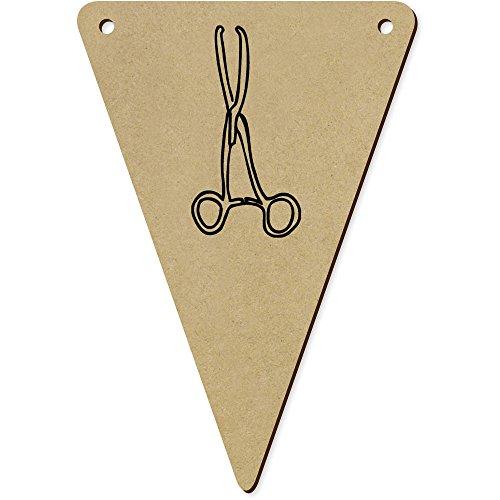 Azeeda 5 x 140mm 'Pinces Médicales' fanions Triangles en Bois (BN00022702)
