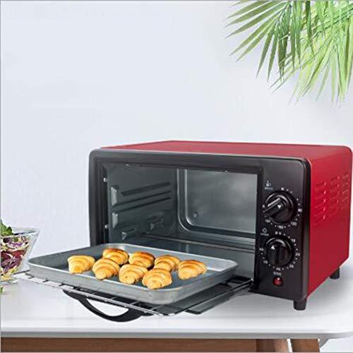 DANYCU 12L elektrischer Mini-Backofen mit doppelter Kochplatte, Mehreren Kochfunktionen und Grill, Einstellbarer Temperaturregelung, Timer - 800W