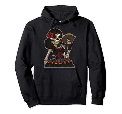 Dia Del Kostüm Muerte - Skelett Lady der Toten - La Calavera Catrina - Santa Muerte Pullover Hoodie