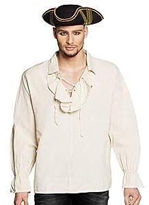 Boland 74198 Pirat - Camiseta (Talla XL), Color Beige