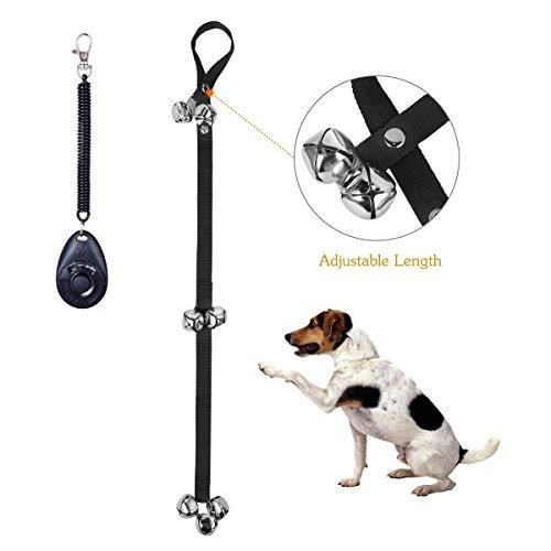 Elisona-2Pcs Pet Dog Training Bells Doggy Doorbells Training for Housebreaking House training