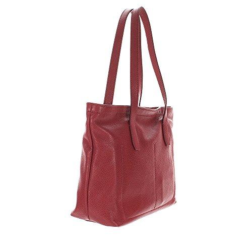 The Bridge Plume Soft Donna Shopper Sac Fourre-tout cuir 32 cm rosso ribes