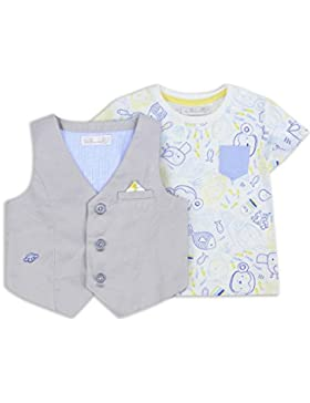The Essential One - Baby Kinder Jungen - T-Shirt und Weste Set - Grau - EOT240