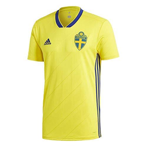 adidas Herren Schweden Heimtrikot Yellow/Mysink, 3XL