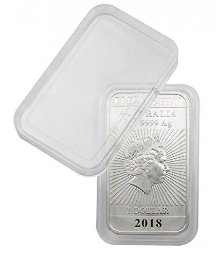 Lindner: rechteckige Münzkapseln Innenmaße 27 x 47 mm, z.B. für 1 OZ. Australien (Silber) - per 1, 5 oder 10 Stück zur Wahl (per 10 Stück) - Silber Münzen Barren