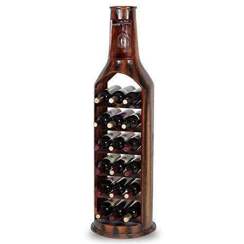 CWJ Weinregal-Europäischen Kreative Weinregale Massivholz Material Kreative Kann 18 Flaschen Wein...