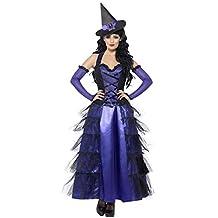 SMIFFYS - Costume Halloween Carnevale da Strega nero e viola - orrore donna  sexy acc27f2b3d77