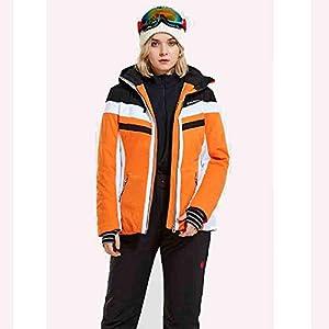 CHXZ Frau Warm Skitouren Winter Outdoor Winterkleidung Warme wasserdichte Schnee-Anzüge Blue-S