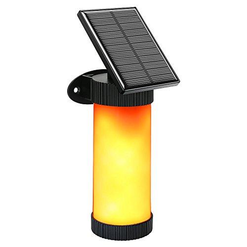 Solarleuchten Flamme Solar Fackel Garten Deko, 102 LEDs mit 3 Modus IP65 Wasserdichtes Lichtsensor Stimmungslicht, Beleuchtung Solar Laterne LED Dekoration Lampe für Garten Zaun Wege Bank