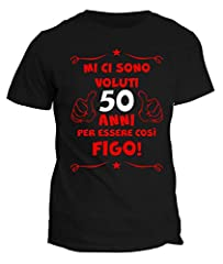 Idea Regalo - fashwork Tshirt 50° Compleanno Mi Ci Sono Voluti 50 Anni per Essere così Figo - Maglietta Compleanno Idea Regalo