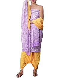 137b3b4ac2 Unnati Silks Women Unstitched Pure Cotton Salwar Kameez with Jaipuri Prints  from the Weavers of Rajasthan