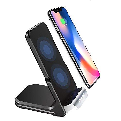 Steanum qi caricatore wireless, 10w fast wireless charger rapida caricabatterie per apple iphone xs max/xs/xr/x, iphone 8/8plus, samsung note 9/8, galaxy /s9/s9+,s8/s8+, s7/s6 e altro ancora