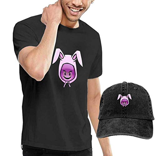 Bunny Kostüm Bad - Baostic Herren Kurzarmshirt Men's Black Short Sleeve Shirts, Funny Bad Rabbit&Bunny Casual T Shirt - Dad Baseball Cap