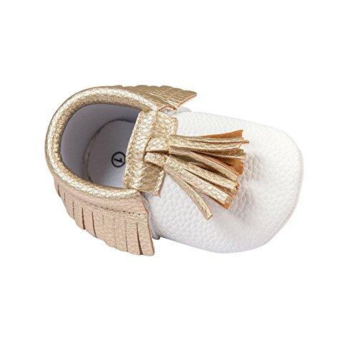 BOBORA Bambino ragazze ragazzi pu mocassino Suola morbida scarpe piatte nappe presepe scarpe precamminatore H
