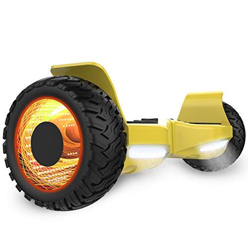 GeekMe 8,5 Zoll Off-Road Hoverboard-Elektroroller Self Balance Scooter All-Terrain-SUV Scooter UL-Zertifiziert Eingebaute Bluetooth-Lautsprecher-LED Lichter APP-Steuerung
