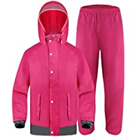 HUIYUAN Impermeable Pantalones de lluvia Traje de Adultos Impermeable al aire libre Montar Poncho Doble Grueso Impermeable, Tejido Oxford, Medium