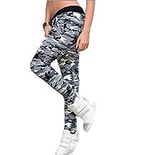 Pantalones mujer deporte Sannysis pantalón chandal color Camuflaje (M)