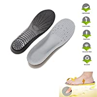 WINOMO Premium Memory Foam Shoe Insole Orthotics Arch Pads Sport Pain Relief Insole - 1 Pair