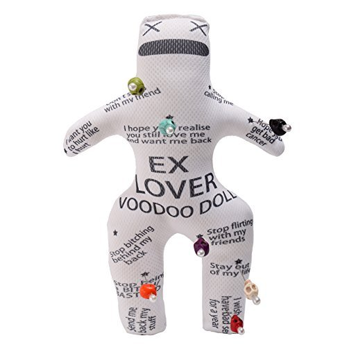 ert Rache Voodoo Puppe Mit Schädel Stifte ()