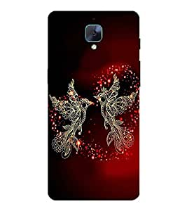 PrintVisa Two Cute Birds 3D Hard Polycarbonate Designer Back Case Cover for OnePlus 3T :: OnePlus Three