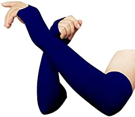 RRC Navy Blue Solid Color Compression Arm Sleeve- 1 Pair