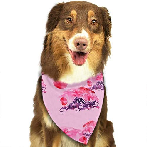 Gxdchfj Silhouette of Mountains Cliffs Pattern Stylish Dog Bandana Bibs Scarf Pet Dog Cat Dog Scarf -