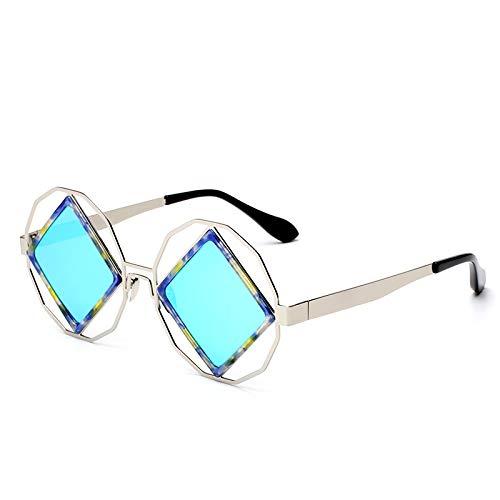 YLYZJH Legierung randlose runde Sonnenbrille Frauen männer Beschichtung Spiegel Sonnenbrille Kreis Brillen