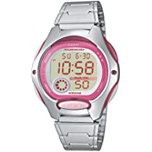 Casio Collection – Reloj Mujer Digital con Correa de Acero Inoxidable – LW-200D-4AVEF