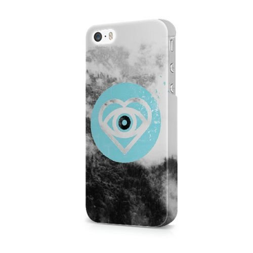 iPhone 5/5S/SE coque, Bretfly Nelson® LOGO ADIDAS Série Plastique Snap-On coque Peau Cover pour iPhone 5/5S/SE KOOHOFD919493 ALL TIME LOW - 019