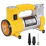 WERSDF Pompa per compressore d'Aria monocilindro con Luce a LED, gonfiatore per Pneumatici, con manometro, per Auto/berlina/Motore/Bicicletta/Camion
