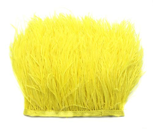 Kostüm Hut Gelbe - ERGEOB Straußfeder Stoffstreifen 2 Meter - Ideen für die Bekleidung, Kostüme, Hüte Gelb