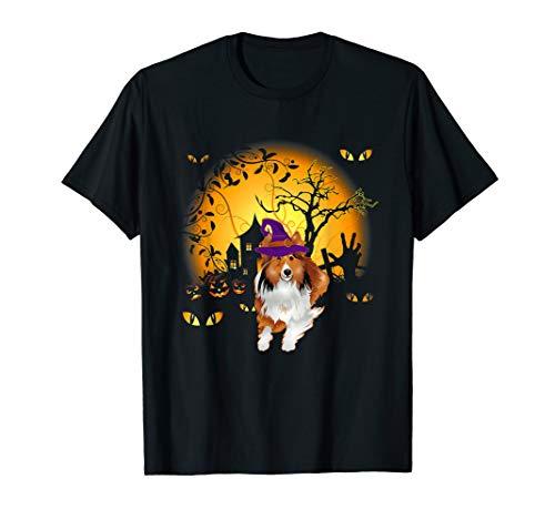 Lustiges Shetland Sheepdog Halloween Kostüm Tee - Hausgemachte Skelett Kostüm