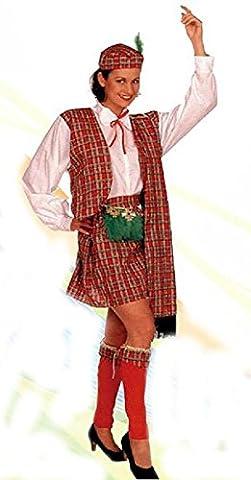 Déguisement d'écossaise, de femme, adulte. Taille unique. Comprend: Robe, écharpe, bonnet et