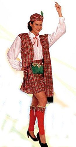 ATOSA Kostüm für Damen, Damen, Erwachsene. Einheitsgröße Inkl. Kleid, Band, Mütze und - Scotswoman Kostüm