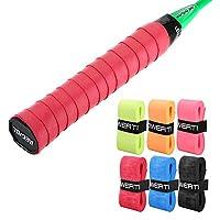 6 قطع ممزوجة بمقابض مضرب تنس متعددة الألوان مضادة للانزلاق من Badminton Racquet Grips Vibration Overgrip Sweatband
