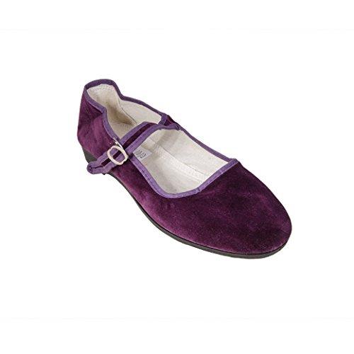 China Samtschuhe Gr. 34 - 42 BROMBEERE NEU Chinaschuhe lila Ballerinas Trachtenschuhe Sonnenscheinschuhe® - China Farben